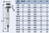 Spanner gaffel - stud M6 x 4mm_